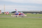 THE RAFs JET TRAINER AND MOUNT OF THE RED ARROWS SEEN HERE IN THE QUEENS JUBILEE LIVERY